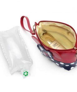 Women Travel Cosmetic Bag Cartoon Bow Hand Holding Makeup Case Zipper Make Up Handbag Organizer Storage Pouch Toiletry Bags 1