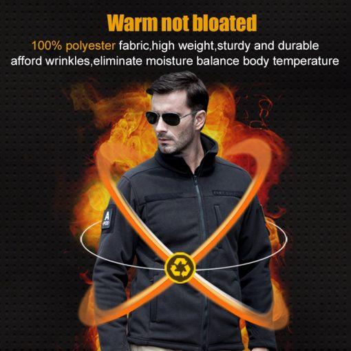 FREE SOLDIER Outdoor Sports Camping Hiking Jackets Men's Clothing Tactical Fleece Jacket Warm Fleece Coat For Men  3