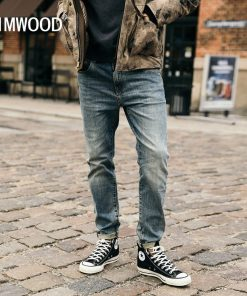 SIMWOOD 2019 New Jeans Men Classical Jean High Quality Straight Leg Male Casual Pants Plus Size Cotton Denim Trousers  180348 1