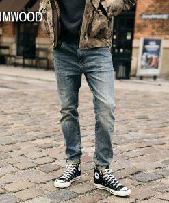 SIMWOOD 2019 New Jeans Men Classical Jean High Quality Straight Leg Male Casual Pants Plus Size Cotton Denim Trousers  180348 1