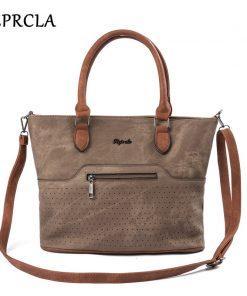 REPRCLA High Quality Handbags Vintage PU Leather Shoulder Bags Crossbody Hollow Large Top-handle Women Bags Bolsa Feminina
