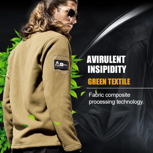FREE SOLDIER Outdoor Sports Camping Hiking Jackets Men's Clothing Tactical Fleece Jacket Warm Fleece Coat For Men  4