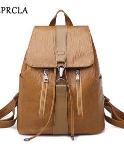 REPRCLA 2018 New Soft PU Leather Women Backpack Fashion Student School Bags for Teenage Girls Shoulder Bag Mochila Feminina 1