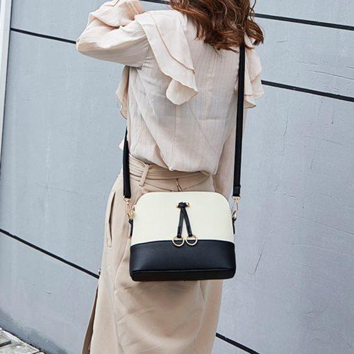 REPRCLA Patchwork Crossbody Bags for Women 2018 Fashion Shoulder Bag Shell Women Messenger Bags Luxury Leather Handbag Designer 3