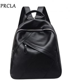 REPRCLA Fashion High Quality Backpack Women PU Leather School Bags for Teenage Girls Large Bagpack Casual Backpacks Mochila 1