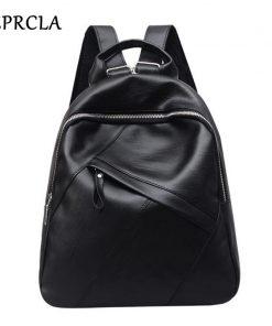 REPRCLA Fashion High Quality Backpack Women PU Leather School Bags for Teenage Girls Large Bagpack Casual Backpacks Mochila 1