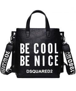DAUNAVIA Designer Fashion Handbag Women Letter Soft Messenger Female Shoulder Bags Large Shopping Tote Lady Crossbody Bag Purse
