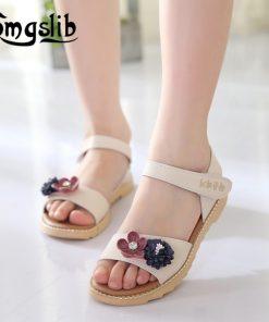 Girls Beach Sandals Children Pu Leather Flower Casual Sandals 2019 Summer Princess Party Dress Baby Toddler Kids Shoes