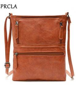 REPRCLA Vintage Crossbody Bags for Women 2018 Messenger Bags High Quality Leather Handbag Female Shoulder Bag Bolsa Feminina