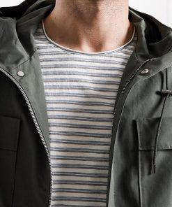 SIMWOOD 2019 Spring New Hooded Jacket  Men Double Pocket Slim Fit Thin  Windbreaker Green Coats Brand Clothing 180170 1