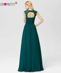 Prom Dresses 2019 Ever Pretty EZ07755 New A-line Lace Dark Green Sleeveless Backless Sexy Long Party Gowns for Wedding Guest 1