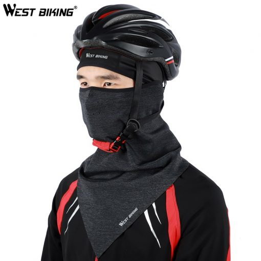 WEST BIKING Bicycle Face Mask Hood Neck Winter Thermal Riding Scarf Breathable Bike Mask Warm Fleece Windproof Ski Cycling Mask 5