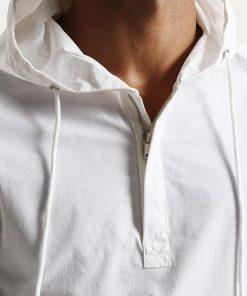 SIMWOOD 2019 Spring New Hoodies Men Fashion Male Clothing White Slim Fit Brand Jacket High Quality WJ1666 1