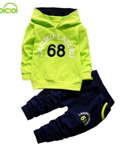 EOICIOI spring autumn baby boys girls clothing sets number letters printed hoodies jacket coats+long pants 2pcs sports suit