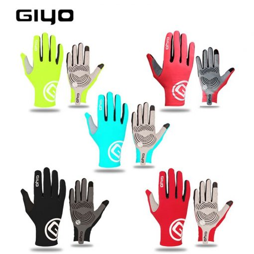 GIYO Breathable Cycling Gloves Touch Screen Anti Slip Gel Pad Road Bike Full Finger Gloves Windproof Bicycle MTB Bikes Gloves 1