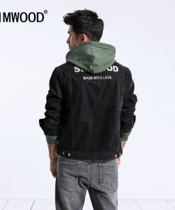 SIMWOOD Brand 2018 New Autumn Black Jackets Men Fashion Casual Denim Jacket For Men Coats Male Embroidered Outerwear 180469 1