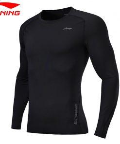 Li-Ning Men Training CREORA T-Shirt Long Sleeve Tight Fit Breathable Comfort LiNing Sports Tee Tops ATLN087 MTL988