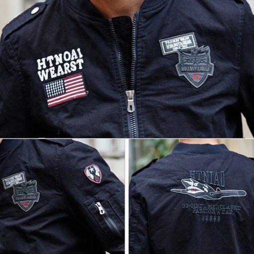 ReFire Gear Tactical Air Force Military Bomber Jacket Men Autumn Cotton Flight Pilot Army Jacket Motorcycle Cargo Coat Jackets 5