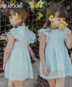 Bear Leader Girls Dress 2018 New Summer Brand Girls Clothes Lace And Ball Design Baby Girls Dress Party Dress For 3-7 Years 1