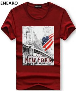 SWENEARO Men's T-Shirts brand t shirt Summer Cartoon printing USA Flag t Shirt Men Short Sleeve Casual Cotton Tops Tees Men 5XL