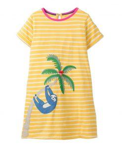 Girls Dress Unicorn 2019 Summer Baby Girl Clothes Kids Dresses for Girls Costume Striped Animal Pattern Princess Dress Vestidos 1