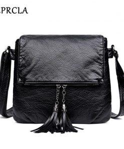 REPRCLA New Designer Shoulder Bag Soft Leather Handbag Women Messenger Bags Crossbody Fashion Women Bag Female Flap Bolsa 1