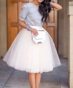 Puffy New Arrival 5 Layer Fashion Women Tulle Skirt Tutu Wedding Bridal Bridesmaid 2018 Overskirt Petticoat Lolita Saia  1
