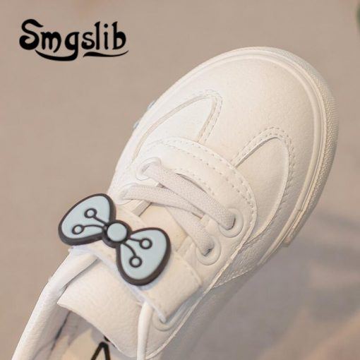 Girls Shoes Children Sneakers Kids 2018 Spring Autumn Casual Sneakers Infant Classic School Shoes Bow White Loafers Footwear 4