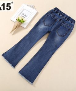A15 Children Girls Jeans New 2018 Elastic Waist Pants Kids Skinny Jeans Baby Girl Kids Clothes Hot Pencil Pants 3 6 8 10 12 Year 1
