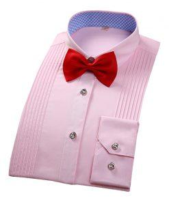 DAVYDAISY New Men Tuxedo Shirt White Long Sleeved Shirt Wedding Party Men's Shirts Brand Clothing Male Shirt 8 Colors DS149 1
