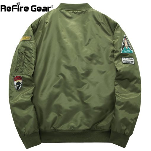 Winter MA1 Air Force Pilot Bomber Jacket Men Military Motorcycle Padded Tactical Jacket MA-1 Airborne Army Flight Coat Plus Size 1