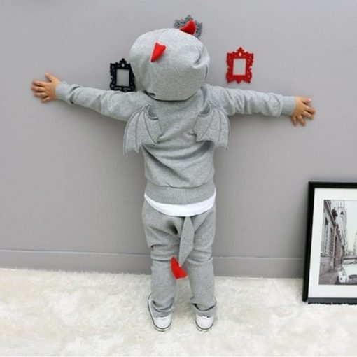 baby boys clothes 2018 New Autumn Casual Long Sleeve sport suit children sets Cartoon little devil clothing sets Halloween gifts 4