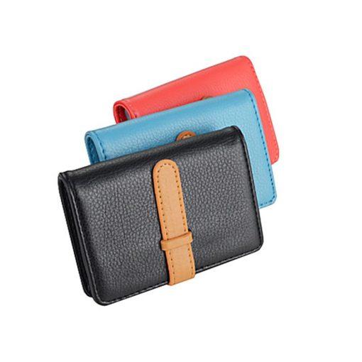 BISI GORO 2019 Business Name Card Holder Leather RFID Blocking Credit Card Case Buckle Men Women Sim Plastic Card Holders 4