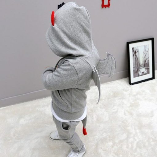 baby boys clothes 2018 New Autumn Casual Long Sleeve sport suit children sets Cartoon little devil clothing sets Halloween gifts 5