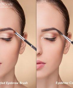 DUcare Brushes for Makeup Eyebrow Brush+Eyebrow Comb Spoolie Brush eyebrow makeup brushes beauty essentials blending eye 1