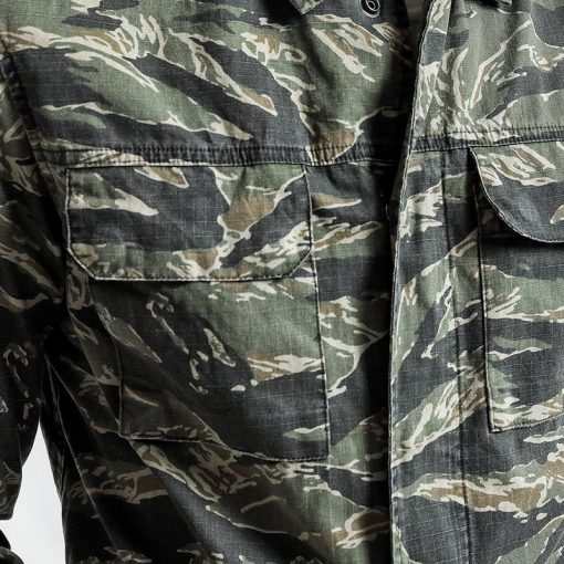 SIMWOOD Spring Spring  New Camouflage jackets men military pocket army tactical denim slim fit plus size high quality NK017012 2