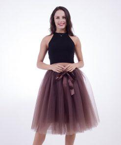 Fashion 2018 Maxi Long Tutu Tulle Skirts Womens Pleated Skirt Fashion Elastic Lolita Petticoat faldas mujer saias Jupe 1