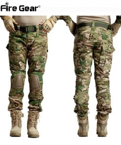 Multicam Camouflage Militar Tactical Pants Army Military Uniform Trouser ACU Airsoft Paintball Combat Cargo Pants With Knee Pads 1