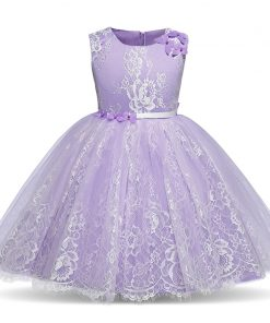 Summer Dress For Kids Frocks Girl Lace Dress Flower Wedding Bridesmaids Kid's Party Costume Evening Gown Princess Dresses 6 8Yr