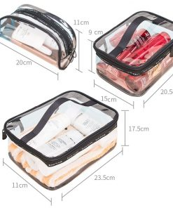Women Transparent Cosmetic Bag Clear Zipper Travel Make Up Case Makeup Beauty Organizer Storage Pouch Toiletry Wash Bath Bag 1