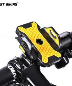 WEST BIKING Bicycle Bike Rack Holder 360 Degree Rotation Holder Clip Stand Bracket Universal Cycling Bicycle Phone Holder