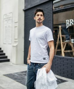 SIMWOOD 2019 Summer New T-Shirt Men 100% Cotton Solid Color Casual t shirt Basics O-neck High Quality Plus Size Male Tee 190004 1