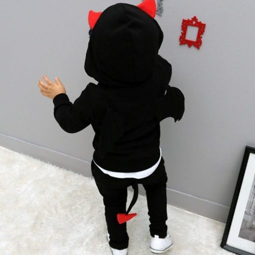 baby boys clothes 2018 New Autumn Casual Long Sleeve sport suit children sets Cartoon little devil clothing sets Halloween gifts 1