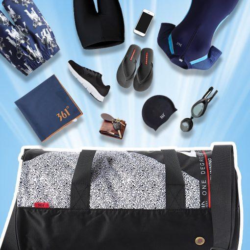 361 Sports Bags Gym Handbag waterproof Swimming Shoulder Bag 25L Combo Dry Wet Bag Travel Camping Pool Beach Men Women Children 5