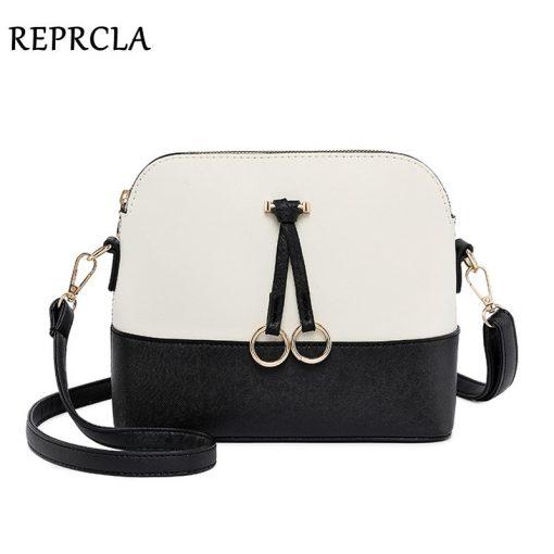 REPRCLA Patchwork Crossbody Bags for Women 2018 Fashion Shoulder Bag Shell Women Messenger Bags Luxury Leather Handbag Designer