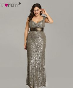 Plus Size Evening Dresses 2018 Ever Pretty EP08798CF Elegant Mermaid Lace Sleeveless Party Gowns Vintage Sexy  Robe De Soiree 1
