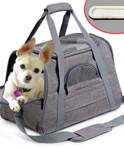 Pet Backpack Messenger Carrier Bags Cat Dog Carrier Outgoing Travel Pet Handbag Soft Side Dog Booster Seat For Small Dog