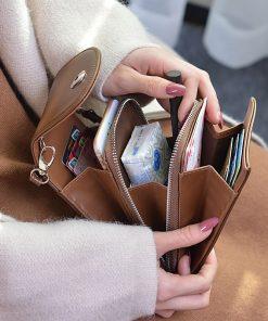 New Women Messenger Passport Cover Travel Wallet Document Passport Holder Men Credit Card Package Travel Accessories Cross Bag