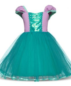 Baby Girl Cinderella Dress Children Snow White Princess Sofia Dresses Rapunzel Girls Halloween Party Cosplay Costume Fancy Gown