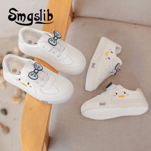 Girls Shoes Children Sneakers Kids 2018 Spring Autumn Casual Sneakers Infant Classic School Shoes Bow White Loafers Footwear 1